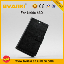 Hot Technology Innovation 2016 Double Phone Case Leather Back Cover For Nokia Lumia 630 Flip Cover,Covers For Nokia Lumia 630