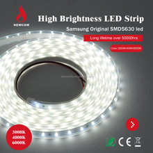High Brightness 12V 60pcs/m Cold White 5630 led strip light