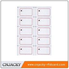 Factory price of RFID pvc inlay/UHF pvc inlay for promotional