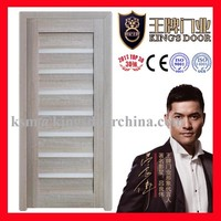 swing opening style and mdf material combined door KMN-049