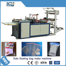 New style heat cutting side sealing bag making machine opp plastic bag making machine SCM-015