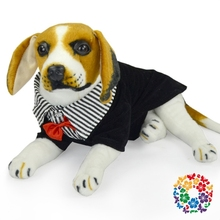 2015 Lavable Hot Pet Clothes Gentleman Pattern Dog Clothing Pet Black Party Clothes With Bow Tie Pet Clothing Dog Clothes