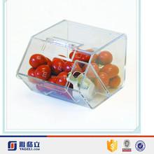 De alta qualidade por atacado novo tipo personalizado feito de acrílico caixa distribuidora de doces para loja