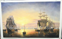 Famous Seascape Boat Sailing Handmade Oil Painting