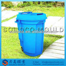 outdoor plastic trash can mould with cover