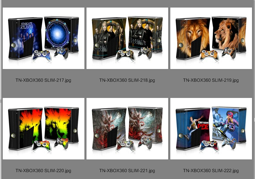 Xbox 360 Slim Console Covers For Xbox 360 Slim Console