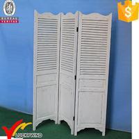 Rustic Shabby Chic Vintage Antique Folding Solid Wood Screen Room Divider