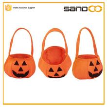 La muestra libre sandoo 2015 de halloween pumpkin basket para niño, en forma de calabaza cesta