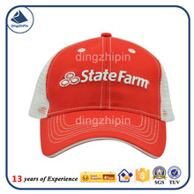 Back Mesh front 3D embroidered logo cap /Pre-curved Visor with Adjustable Strap