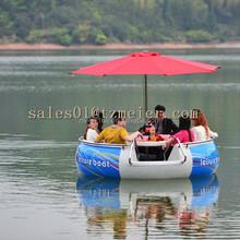 Original manufacturer round lake boat in the park