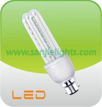 2015 HOT SALE CIXING LED ENERGY SAVING LAMP 2U 8W B22 220 volt led light bulbs