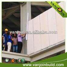 Low cost polystyrene building material wall
