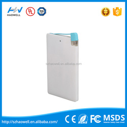 Specifically Designed Simple Credit Card Power Bank 4000mah