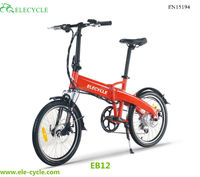ELECYCLE 2015 new compact folded electric bike lithium battery for electric bike
