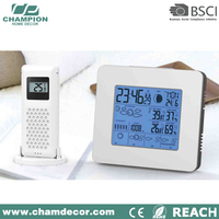 2015 ultronic weather forecast station alarm led clock , wireless 433mhz weather station with rcc clock