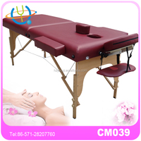 touch america massage table with side armrest extension