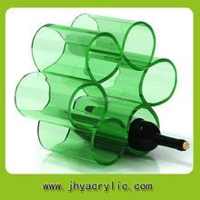 Top level stylish wine rack/clear acrylic wine bottle holder