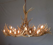 7.10-7 Rustic Wonderful Elk Antler Chandelier Lighting Modern Contemporary