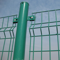 Professional pvc coated or galvanized metal fence pole