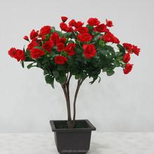 China Wholesale High Quality Azalea Artificial Flower Pot