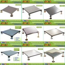 HPL steel panel/fireproof adjustable pedestal/anti abrasion/shockproof/vinyl/anti static raised floor