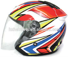 open face helmet with sun shield