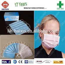 Disposable ultrasonic heat sealing high quality nurse pink face mask at cheap price