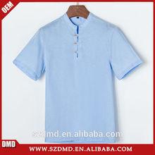 2015 nuevo diseño personalizado hombres de kurta camisa de lino