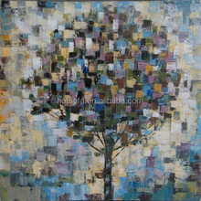 Abstract Tree Group Landscape Oil Painting for Wall Decor