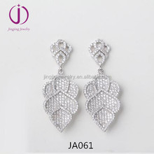Latest products plated rhodium 925 sterling silver crown shape earring for wedding