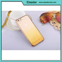 For iphone 6 metal plating tpu case colorful case