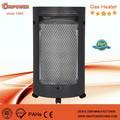 Catalítica de interior del dormitorio portátil calentador de gas impulse eléctrico interruptor de encendido con la batería