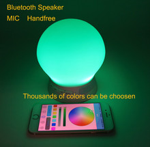 professional wireless bluetooth speaker , mini portable bluetooth speaker with thousands of colors LED light and MIC handsfree