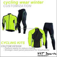 Winter cycling wear set custom design brush fabrics cycling kit