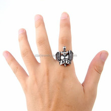 Europe and the stainless steel rings Men's accessories wholesale faith belief wings titanium steel ring restoring ancient ways
