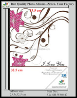 New design wedding picture photo albums elegant wood cover(OEM supported)