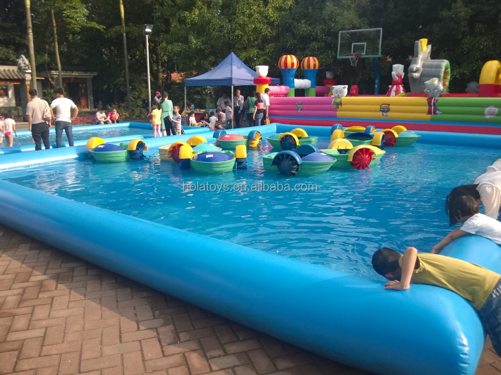 Hola inflables alquiler gran piscina inflable para la Square swimming pools for sale