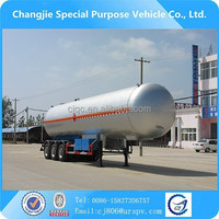 High performance lpg gas semi trailers new condiion lpg gas storage tank special for gas tank truck