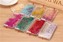 Glitter Bling Stars Colourful Liquid Novelty Phone Case for iPhone6 6 Plus 5 5s