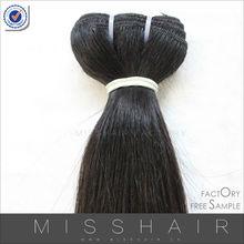 "Free sample hair factory virgin human hair 10"" straight hair bundle"