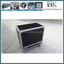 Dual JBL EON 515 speakers cases with caster board