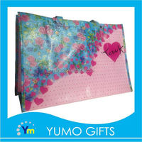 80g oem image offset printing non woven shopping plastic bags