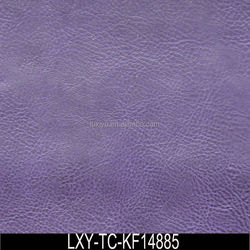 Purple Color Pu Leather Fabric for Clothing