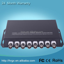 China golden suppier 8 channel video to vga converter 20km long distance network video transmitter for ip camera
