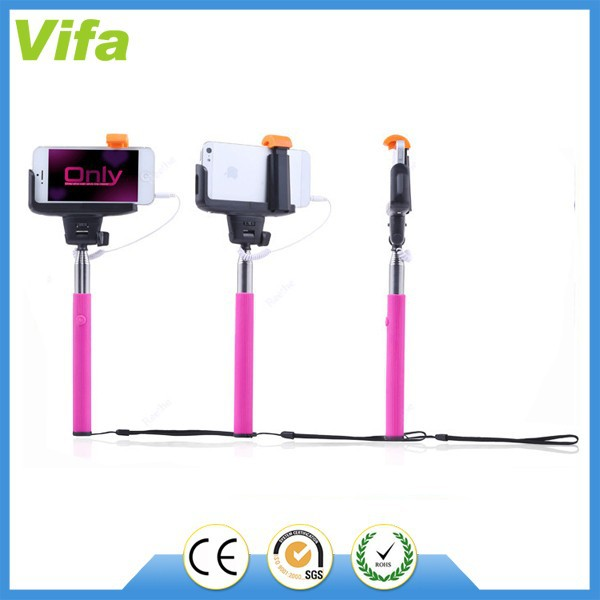 wired cable take pole selfie stick monopod buy selfie stick with cable wired monopod cable. Black Bedroom Furniture Sets. Home Design Ideas