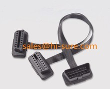 J1962 OBD cable Male to Female Extension Flat Split Y cable