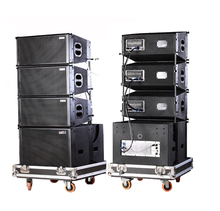 "Admark active 3 way double 10"" line array with calss-D amplifier and built-in DSP"
