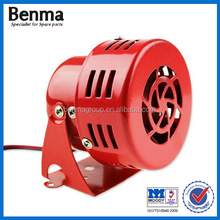 "Red 110DB 12V 3"" Automotive Air Raid Siren Horn Car Truck Motor Driven Alarm"