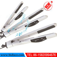 dry hair steam straightening iron with ceramic coated plate