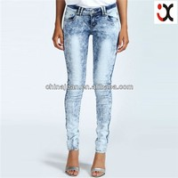 2015 new arrival stretched designer pictures of jeans for women JXQ423